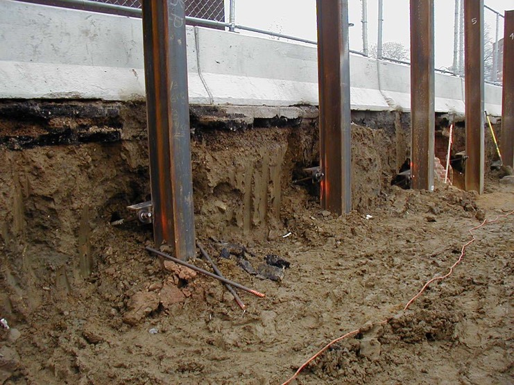 Tiebacks For Temporary Shoring Midwest Foundation Tech Inc